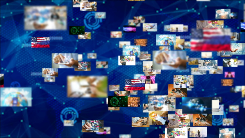 Global business network concept. business connecting   Shutterstock HD Video #1035559709