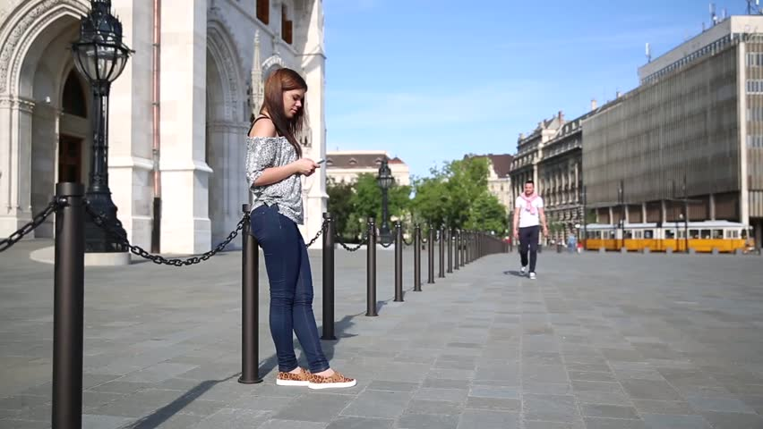 The young couple meet in the city | Shutterstock HD Video #10356026