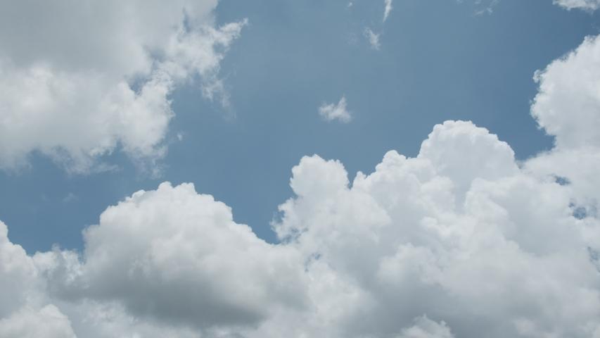 Cumulus clouds on blue sky pan | Shutterstock HD Video #1035832889