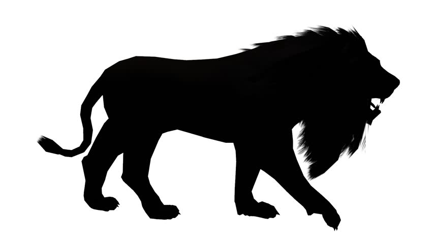 Lion WalkEndangered Wild Animal Wildlife Walking Sketch Silhouette Cg 02535
