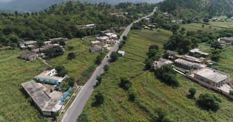 Kashmir Valley aerial land scape