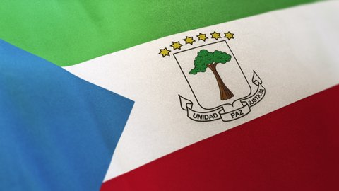 Equatorial Guinea national flag seamlessly waving on realistic satin 29.97FPS
