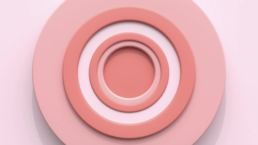 Pink white circle target abstract motion 3d render | Shutterstock HD Video #1036546649
