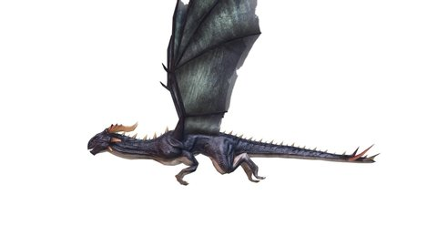 3D CG rendering of Flying Dragon