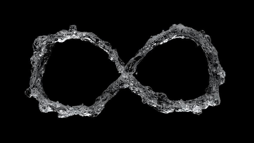 Water flow into infinity shape water simulation | Shutterstock HD Video #1036978319