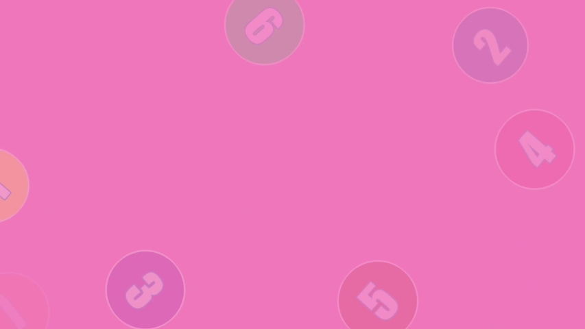 View of balls with numbers 1 to 10 bounce and spin with a magenta background.animation concept | Shutterstock HD Video #1037073119