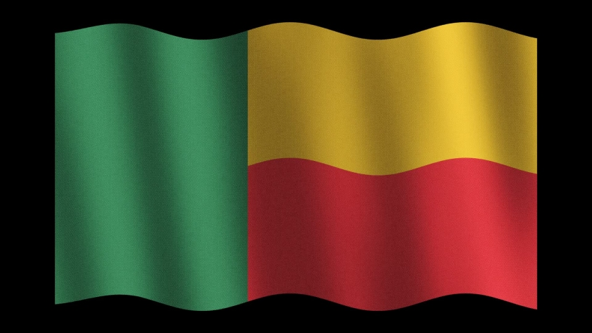 Benin flag waving animation. Luma matte. | Shutterstock HD Video #1038074669