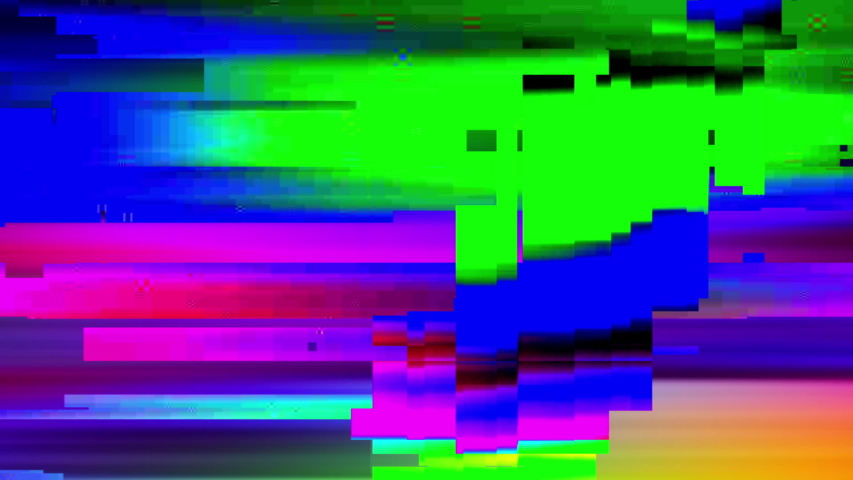 Television digital damage glitch background, computer generated graphics | Shutterstock HD Video #1038465659
