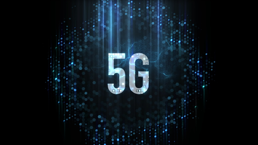 Appearance of 5G Network Animated Logo | Shutterstock HD Video #1038905399
