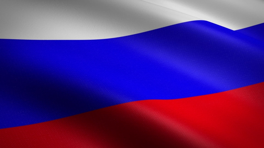 Flag of Russian Federation. Waving flag with highly detailed fabric texture seamless loopable video. Seamless loop with highly detailed fabric texture. Loop ready in HD resolution 1080p 60fps | Shutterstock HD Video #1039289339