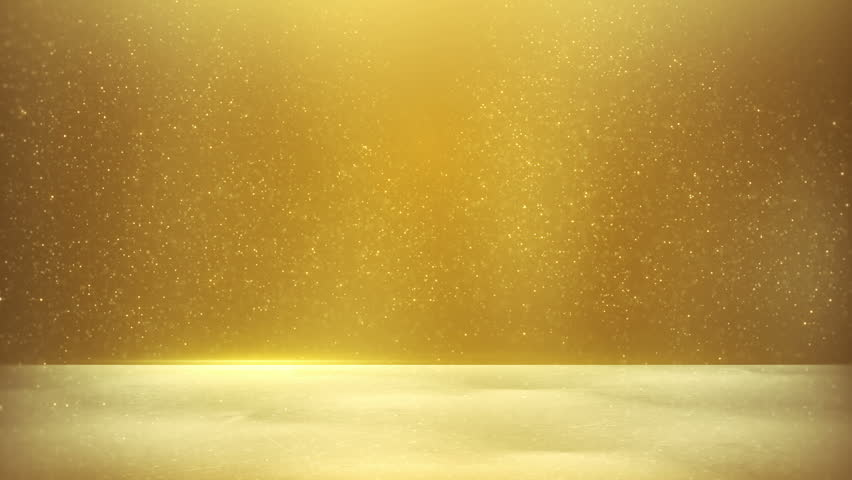 Gold Blank Banner. Computer Generated Seamless Loop Abstract ...