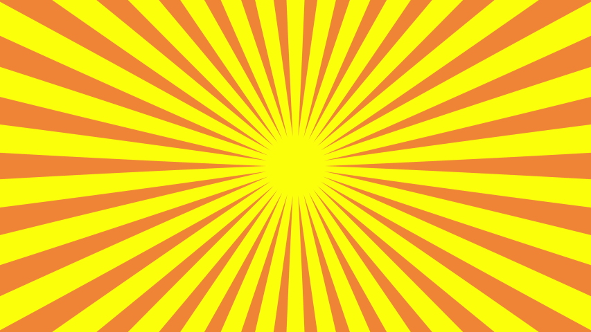 Yellow orange sunburst motion video. Sunshine graphic background for commercial business advertising. Summer concept wallpaper. Abstract modern style backdrop. 4k | Shutterstock HD Video #1039684889
