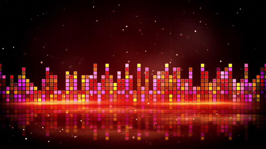 Clip 12359060 Stock Footage Colorful Equalizer Abstract In A Dark Background on radio frequency reflection