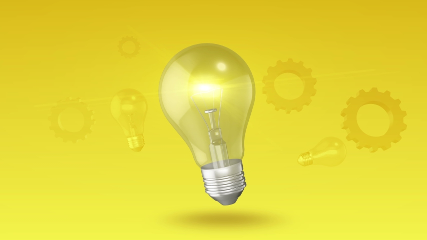 Light Bulb Abstract Ideas Innovation Background   Shutterstock HD Video #1039899359