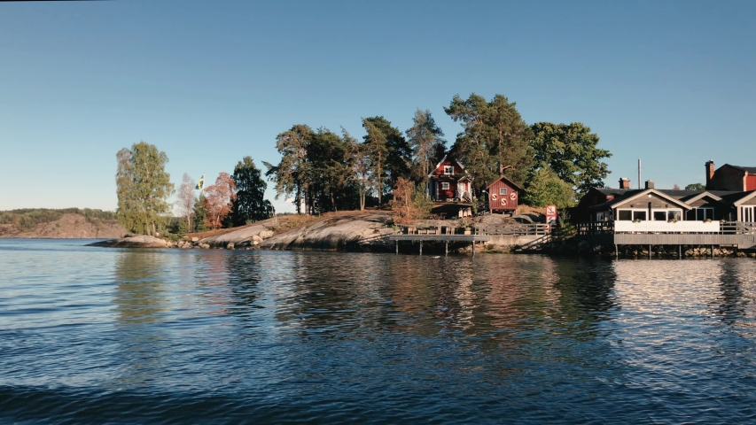 Red Houses in Stockholm Arcipelago | Shutterstock HD Video #1040062799