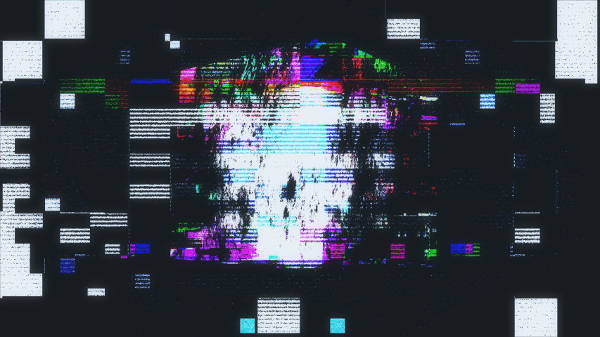 3D Cube Distorted Defect Noise Pixelated Flickering Screen | Shutterstock HD Video #1040118059