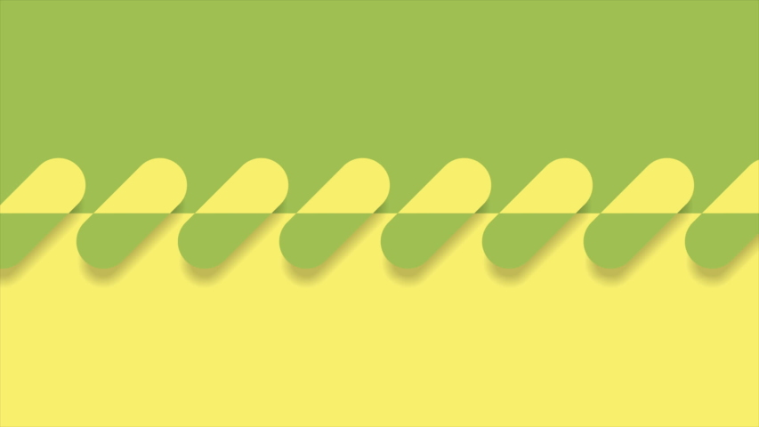 Abstract green and yellow geometric minimal motion design seamless looping video animation ultra hd | Shutterstock HD Video #1040489369