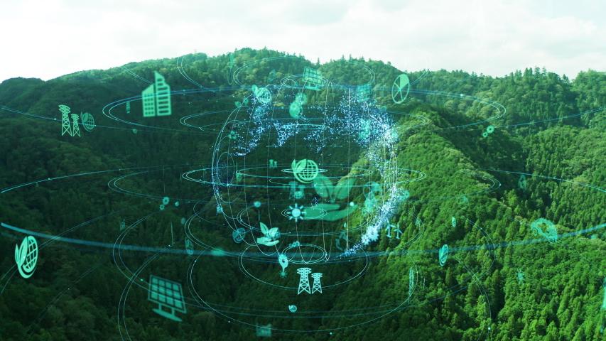 Environment protection concept. Renewable energy. Sustainable development goals.    Shutterstock HD Video #1040543369