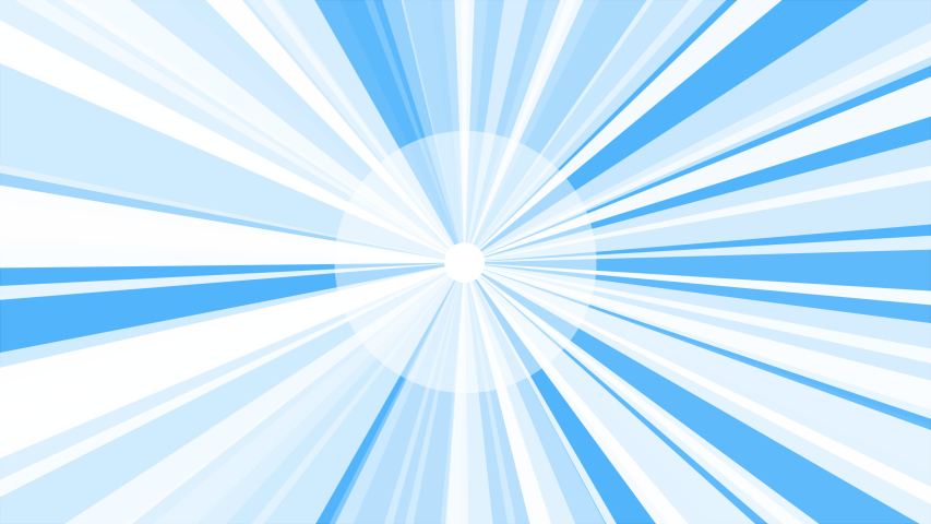 White Sunburst Starburst rays background. Rotating Sun ray animation background. Animated shining sun against bright blue sky | Shutterstock HD Video #1040972789