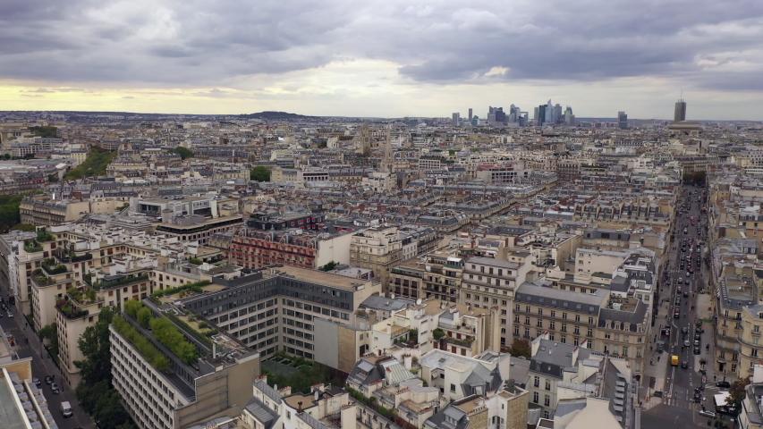 Paris skyline aerial  | Shutterstock HD Video #1040987909