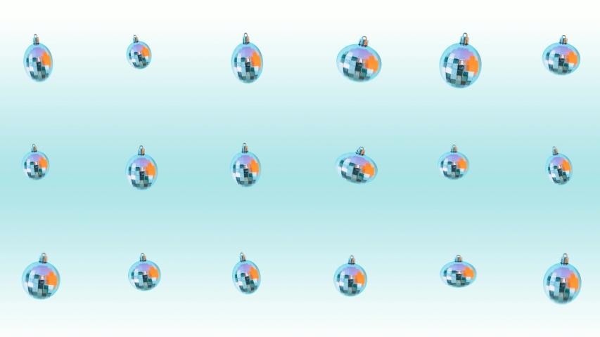 Minimal Motion art. Pattern of Christmas dancing silver balls. Seamless effect   Shutterstock HD Video #1041091429