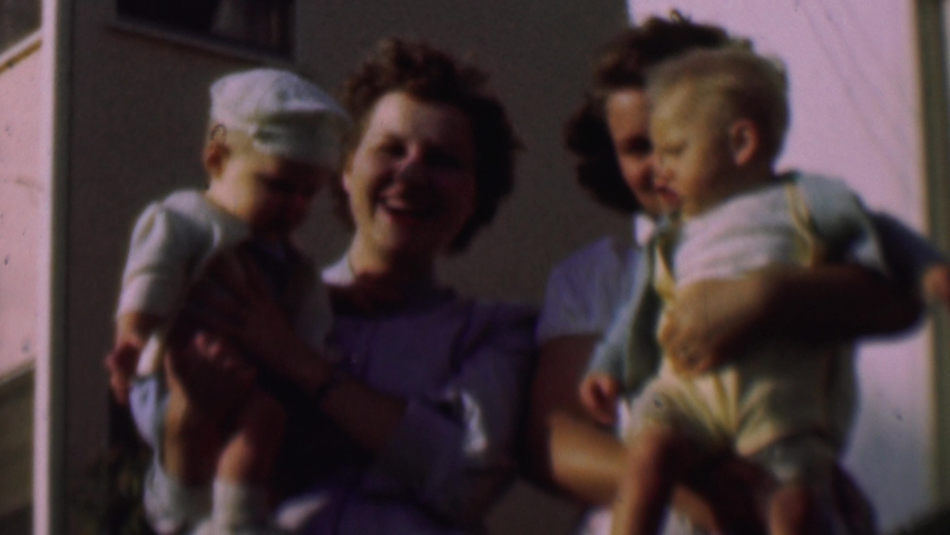 SAN DIEGO CALIFORNIA USA-1961: The Families In The Neighborhood Walking The Sidewalk | Shutterstock HD Video #1041746659