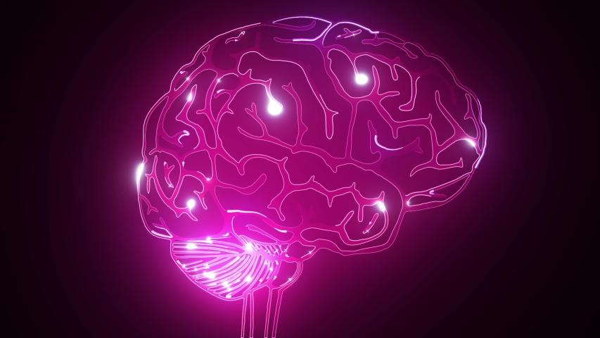 Human brain laser animation video | Shutterstock HD Video #1041788299