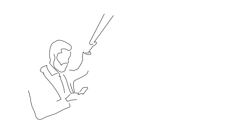 Person on the subway isolated line drawing, vector illustration design. | Shutterstock HD Video #1042289179