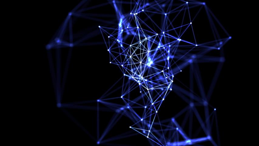 Communication network in cyberspace concept.    Shutterstock HD Video #1042359259
