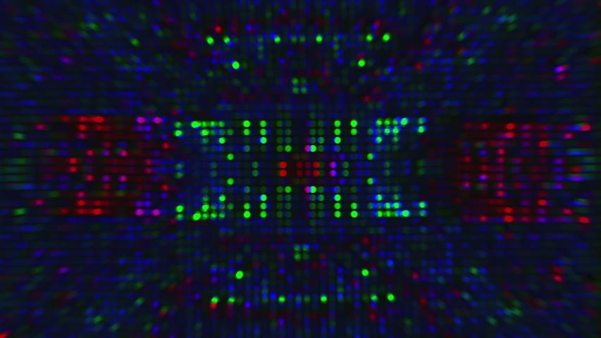 Bad tv imitation neon kaleidoscope, sci-fi dreamy glittering background. Looped animation. | Shutterstock HD Video #1042523479