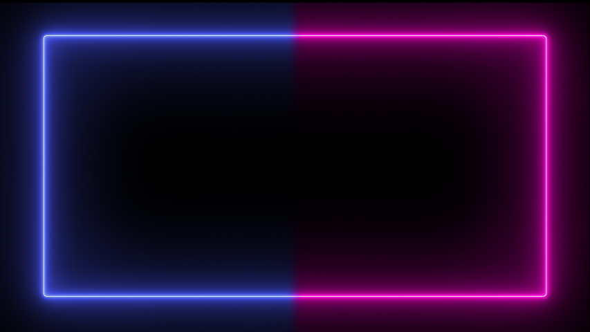 Abstract popular neon lines in blue and purple, modern trend frame with seamless lines in 4K. Background screen of luminous lines in the form of a square, moving animation. | Shutterstock HD Video #1042532449