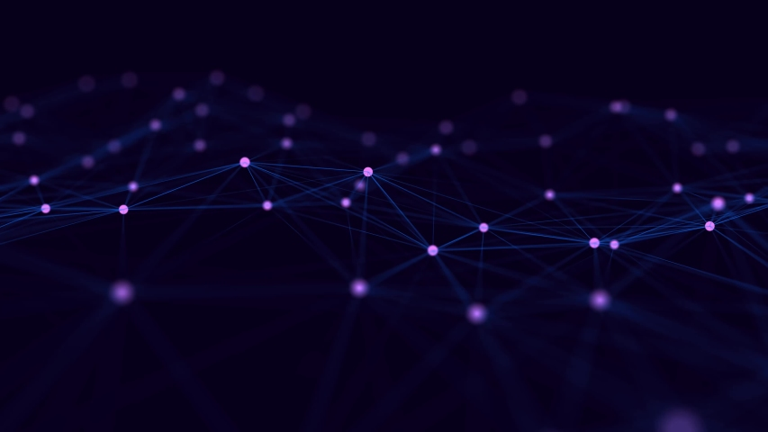 Network connection structure. Big data digital background. Science background with connected dots and lines. 3d rendering.   Shutterstock HD Video #1042654459