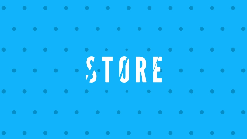 Store with text animation effect | Shutterstock HD Video #1042695529