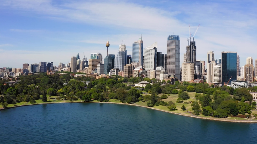 Aerial View of Sydney, Australia. Drone shot. Panorama. | Shutterstock HD Video #1042727509
