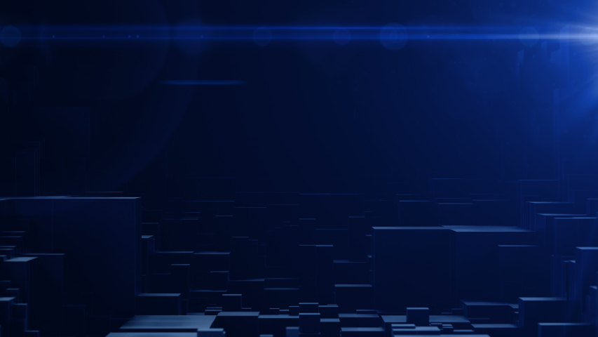 Abstract cubic background.For titles and logo.Dark blue high tech technological and misterious background.  | Shutterstock HD Video #1042775779