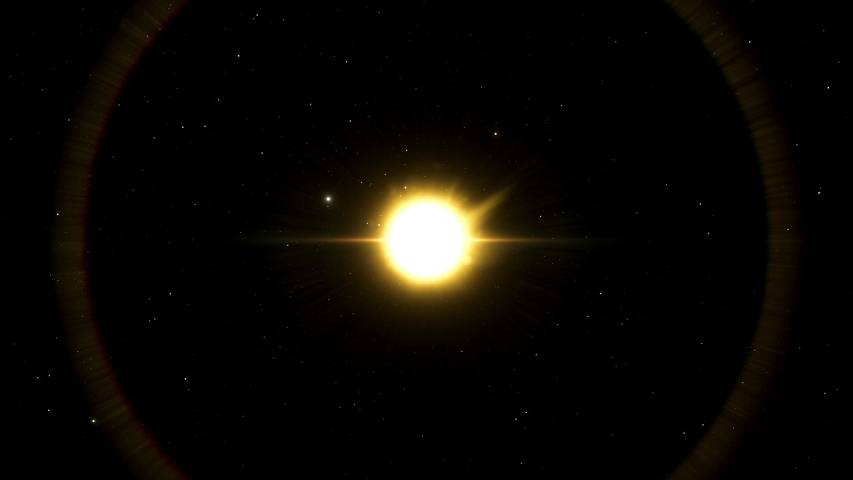 Sun's corona  is an aura of plasma that surrounds the Sun and other stars and extends millions of kilometres into outer space and is most  easily seen during a total solar eclipse. | Shutterstock HD Video #1043879239