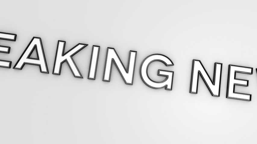 Breaking news text banner intro outro. Breaking news title construction reveal animation.    Shutterstock HD Video #1044555319