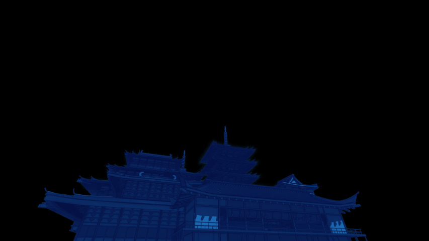 Japan Architecture 3D Video Animation | Shutterstock HD Video #1044937009