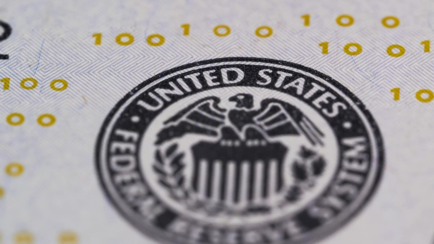 American hundred-dollar paper banknote in close-up macro mode. Finance and Economics | Shutterstock HD Video #1045003099