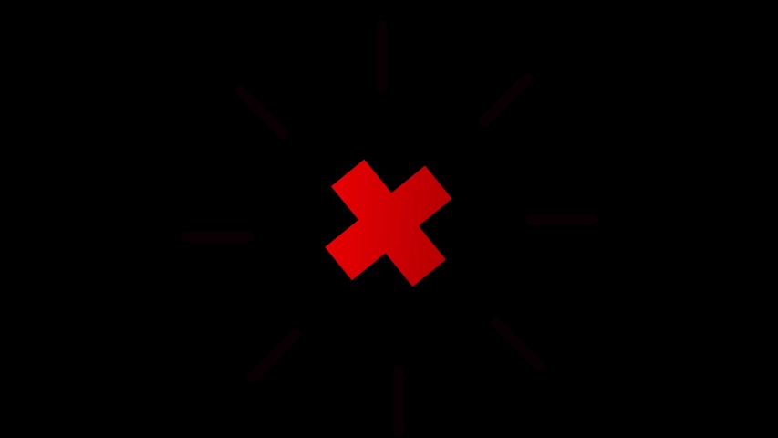 Animation in motion graphics of a red cross symbol. Motion Graphics. Transparent Background | Shutterstock HD Video #1045644919