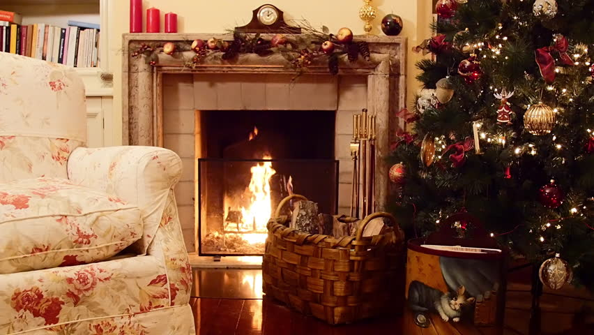 Christmas Tree Near A Fireplace Stock Footage Video 100 Royalty Free 10460249 Shutterstock