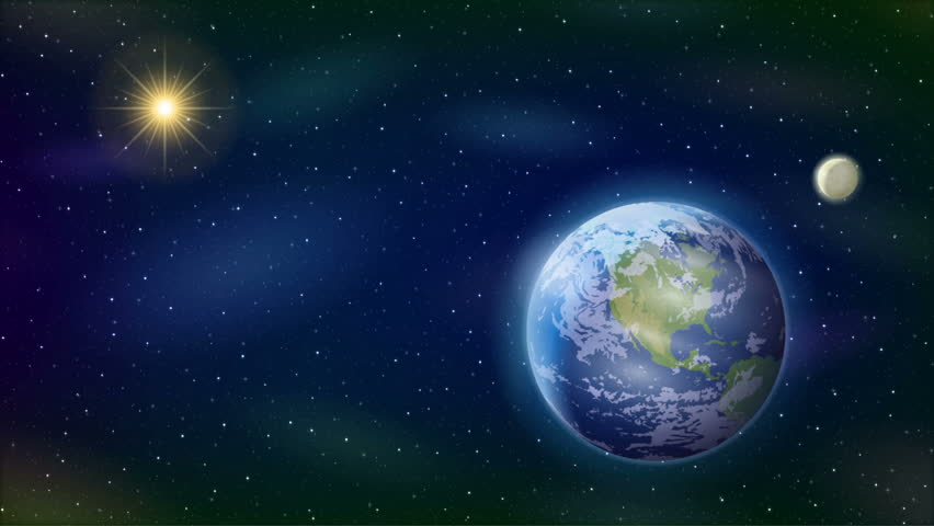 Worksheets Sun Moon And Stars sun moon and stars space background animated fullhd 1920x1080 progressive seamlessly looping video of with planet earth sun