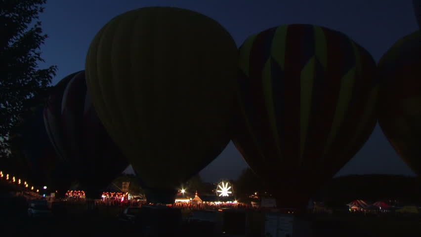 Hot air balloons get inflated with propane gas.