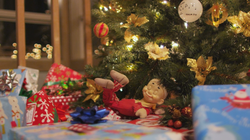 Dolly Across Presents And Christmas Tree | Shutterstock HD Video #1046591989