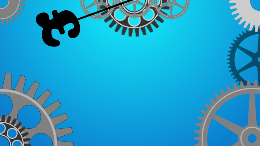 Animation of a pendulum with the base in the shape of a pound symbol and its gears | Shutterstock HD Video #1046849539