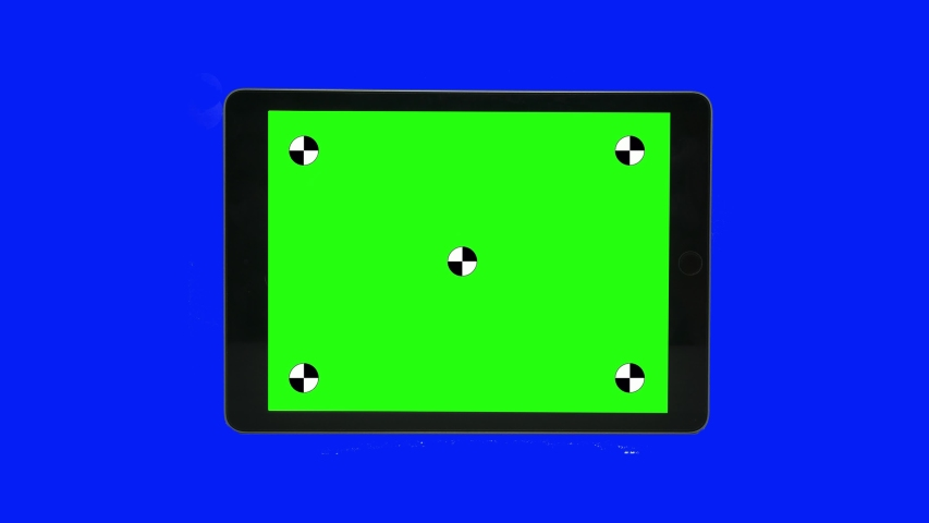 Green screen technology concept. Modern smart phone, tablet and computer mock up with green screen, alpha channel and tracking markers. | Shutterstock HD Video #1046951989