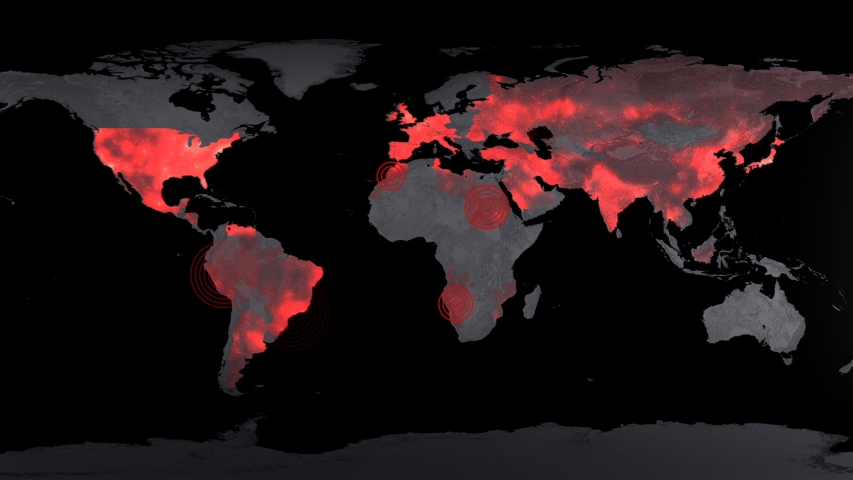 Corona virus map disease spreading animation animation | Shutterstock HD Video #1047912589