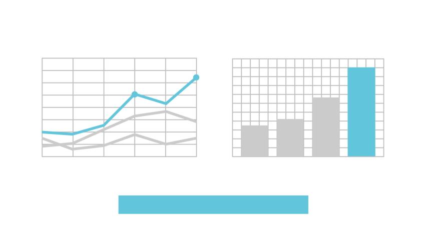 Set of blue infographics elements alfa-mask. Business design elements. Management 2017 - 2020   Shutterstock HD Video #1047969229