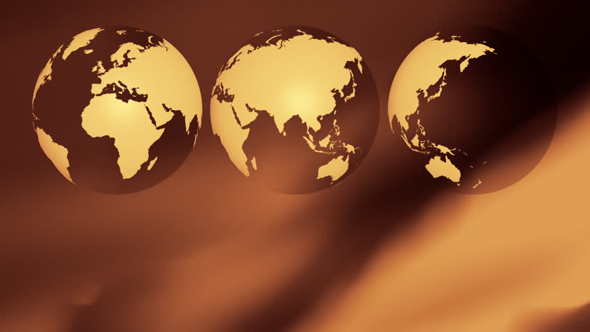 Gold world map abstract background 4k stock footage video 9104441 international business backdrop three world globes motion background 4k stock video clip gumiabroncs Gallery