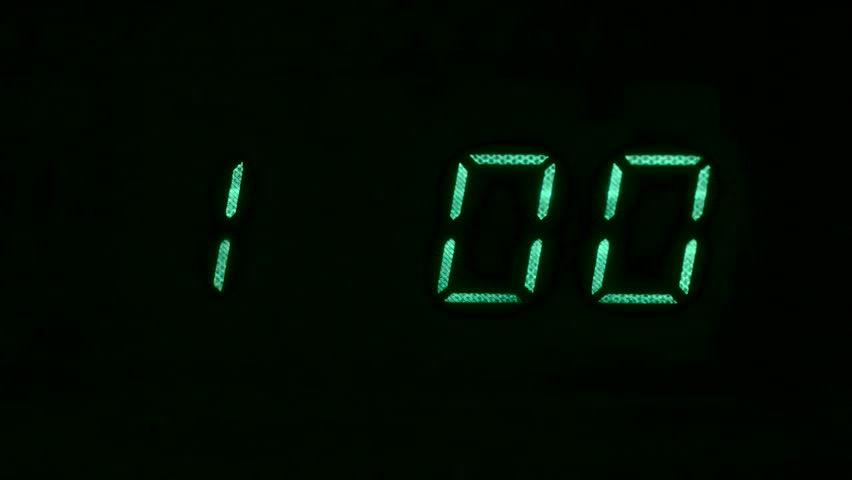Microwave Oven Counting Down From One Minute Hd Stock Video Clip